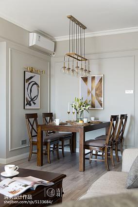 优美81平美式三居餐厅装潢图三居美式经典家装装修案例效果图