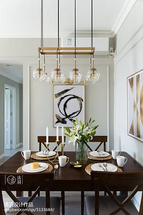 质朴103平美式三居客厅布置图三居美式经典家装装修案例效果图