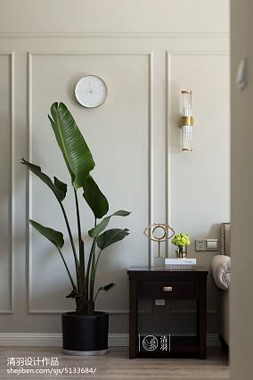 2018面积98平美式三居客厅装修欣赏图片大全家装装修案例效果图