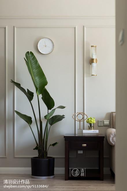 2018面积98平美式三居客厅装修欣赏图片大全
