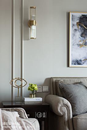 精选93平米三居客厅美式装修效果图片家装装修案例效果图