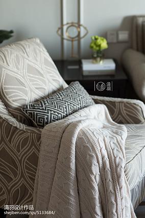精选美式三居客厅效果图家装装修案例效果图