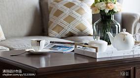 2018精选面积94平美式三居客厅装修实景图家装装修案例效果图