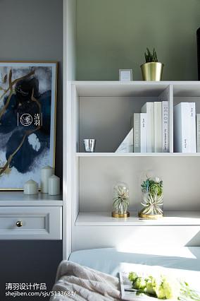 温馨83平美式三居卧室案例图三居美式经典家装装修案例效果图
