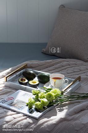 精致124平美式三居卧室装修图家装装修案例效果图