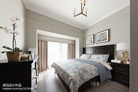 精美95平美式三居卧室装饰图三居美式经典家装装修案例效果图