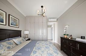 轻奢102平美式三居卧室效果图三居美式经典家装装修案例效果图