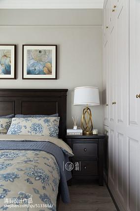 轻奢103平美式三居卧室效果图欣赏家装装修案例效果图