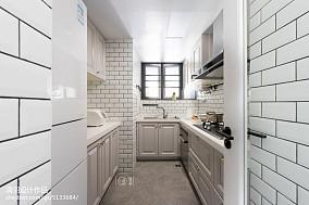 华丽117平美式三居厨房装修装饰图三居美式经典家装装修案例效果图