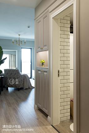 平美式三居装潢图三居美式经典家装装修案例效果图