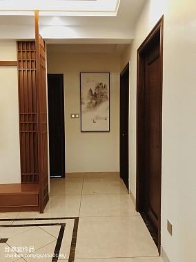 热门105平米三居过道中式装修设计效果图片大全