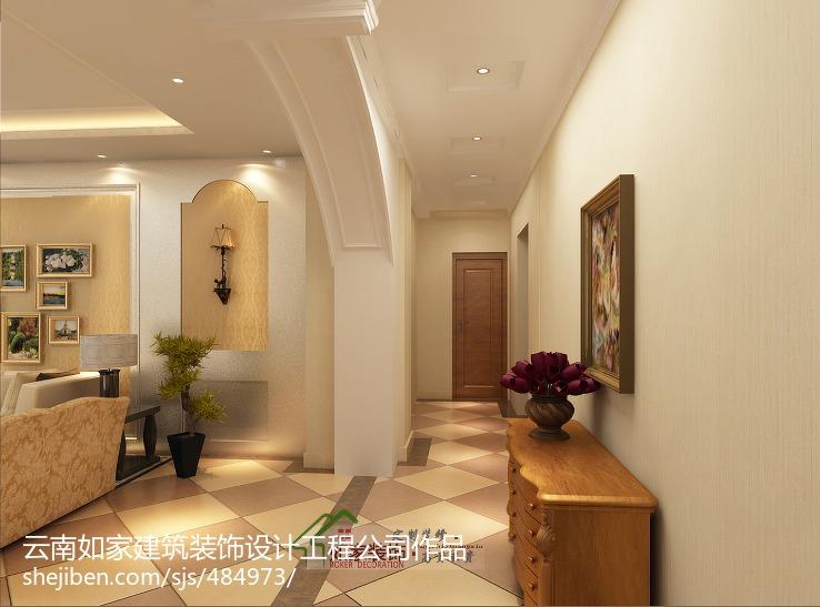 精选118平米新古典别墅玄关实景图片欣赏客厅美式经典客厅设计图片赏析
