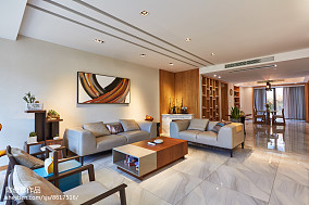 热门简约复式客厅设计效果图