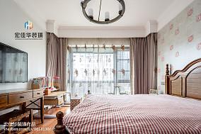 精选85平米二居卧室美式效果图片欣赏