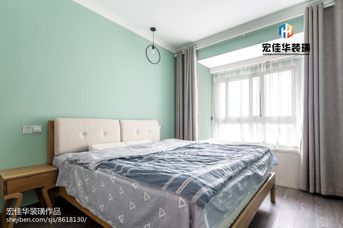 热门面积75平现代二居卧室装修图片大全卧室窗帘现代简约卧室设计图片赏析