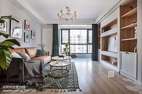 热门80平米二居客厅现代装修设计效果图片