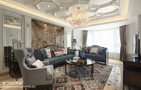 精美面积103平欧式三居客厅装修效果图片