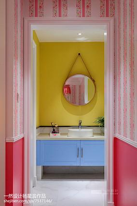现代样板房儿童房卫浴设计图卫生间现代简约设计图片赏析