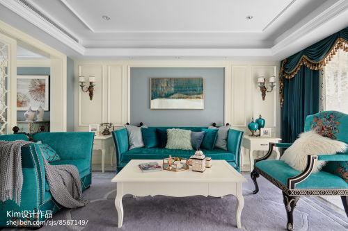 平米复式客厅装修效果图客厅窗帘201-500m²复式家装装修案例效果图