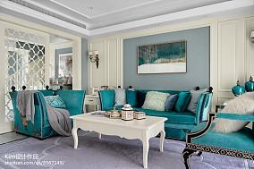 温馨40平法式复式客厅案例图复式欧式豪华家装装修案例效果图