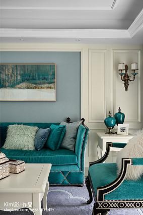 热门128平米复式客厅效果图片大全复式欧式豪华家装装修案例效果图