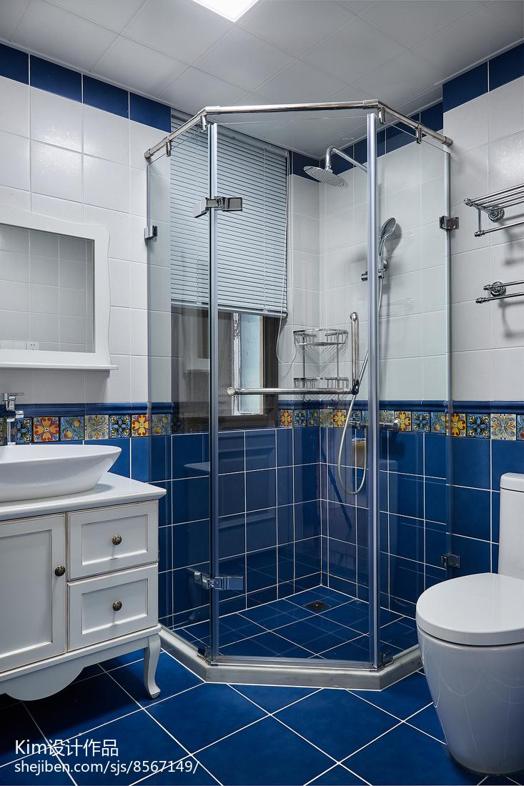 法式混搭卫浴设计实景图片