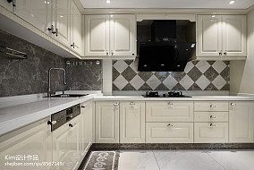精美面积130平复式厨房装修实景图复式欧式豪华家装装修案例效果图