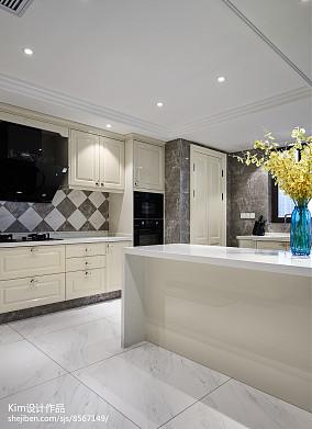 平米复式厨房装修效果图片欣赏复式欧式豪华家装装修案例效果图