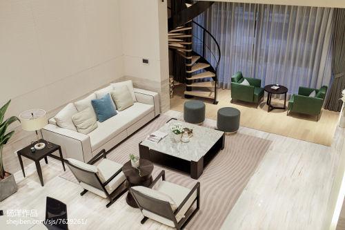 热门98平客厅三居现代装修实景图片大全客厅201-500m²三居现代简约家装装修案例效果图