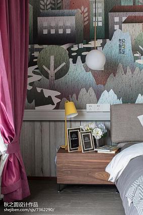 精选面积127平复式卧室北欧装修设计效果图片大全复式北欧极简家装装修案例效果图