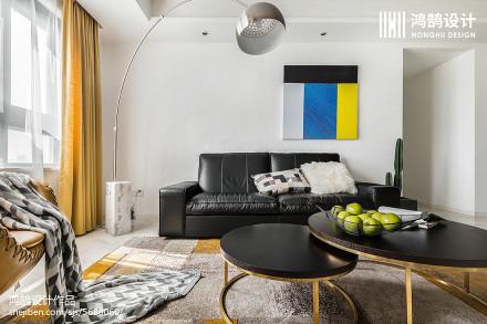 精选95平米三居客厅简约装修实景图片大全