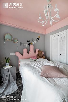 面积90平简约三居儿童房实景图片欣赏三居现代简约家装装修案例效果图