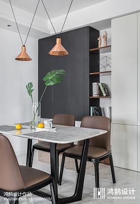 精选简约三居餐厅装修效果图片欣赏三居现代简约家装装修案例效果图
