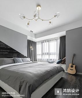 精美大小98平简约三居卧室装饰图片三居现代简约家装装修案例效果图