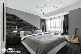 面积93平简约三居卧室欣赏图片大全三居现代简约家装装修案例效果图