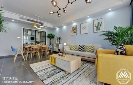 2018面积90平北欧三居客厅装修设计效果图片客厅