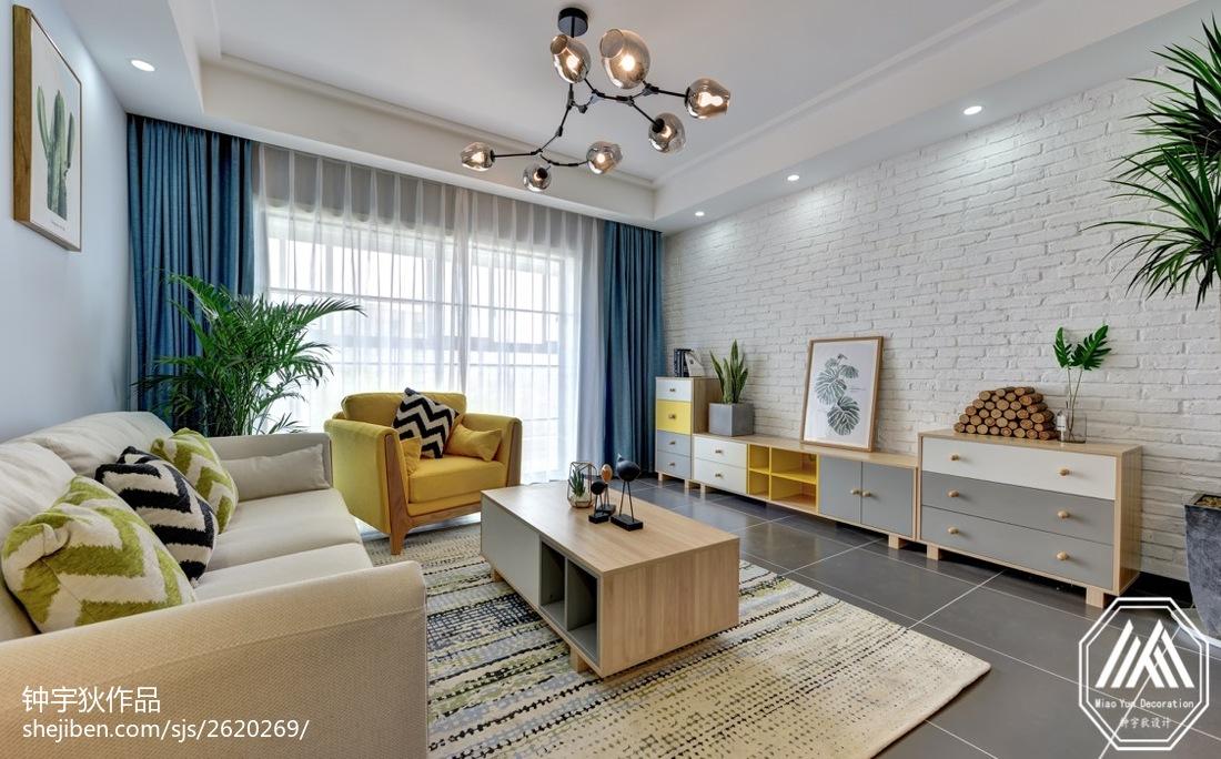 北欧风格客厅吊灯设计图片客厅北欧极简客厅设计图片赏析