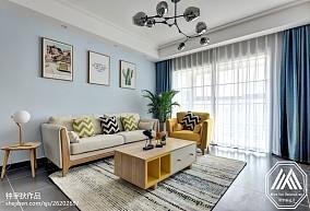 热门96平方三居客厅北欧装修实景图片欣赏