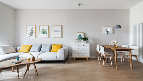 精美90平米三居客厅简约装饰图