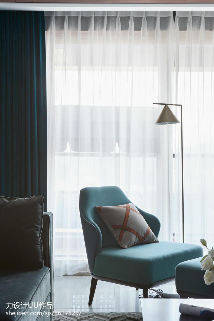 热门面积93平混搭三居客厅装修设计效果图片欣赏客厅2图