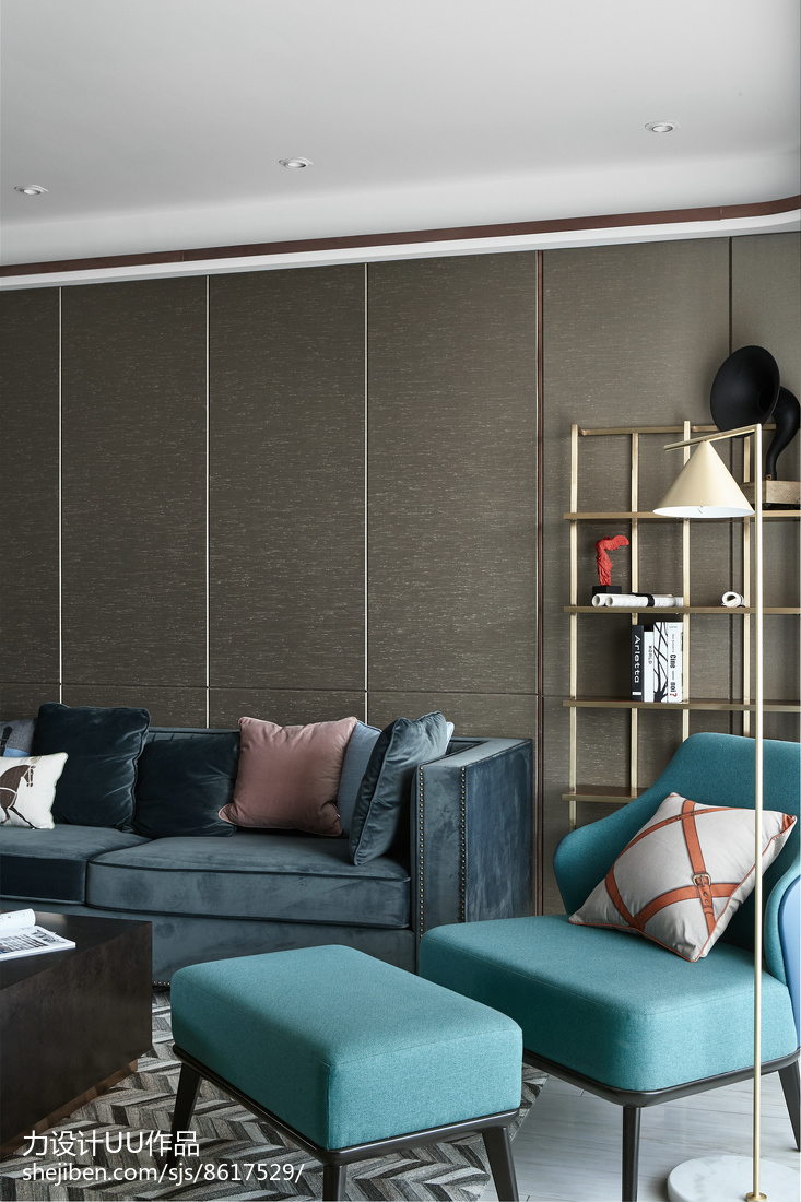 精选104平大小三居混搭装修效果图片客厅