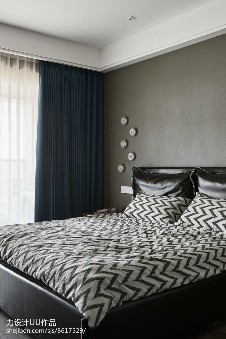 精致106平混搭三居卧室效果图欣赏卧室