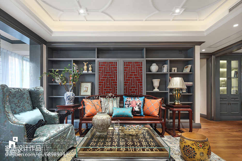 精致101平混搭四居客厅装修美图客厅