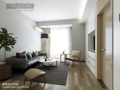 热门86平米二居客厅简约效果图片客厅木地板81-100m²二居现代简约家装装修案例效果图