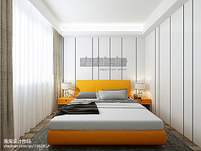 精选大小75平简约二居卧室装修欣赏图