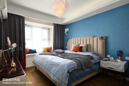 精选108平米三居卧室混搭装修效果图卧室