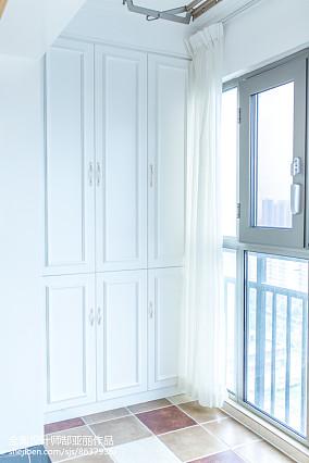 热门102平米三居阳台欧式装修设计效果图片欣赏