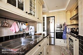 热门107平米三居厨房美式装修图片