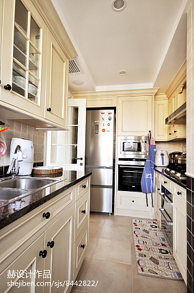 优雅105平美式三居厨房实拍图餐厅美式经典设计图片赏析