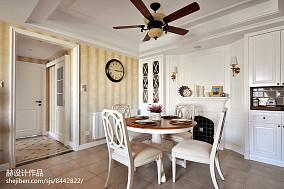 大气115平美式三居餐厅装修案例厨房美式经典设计图片赏析